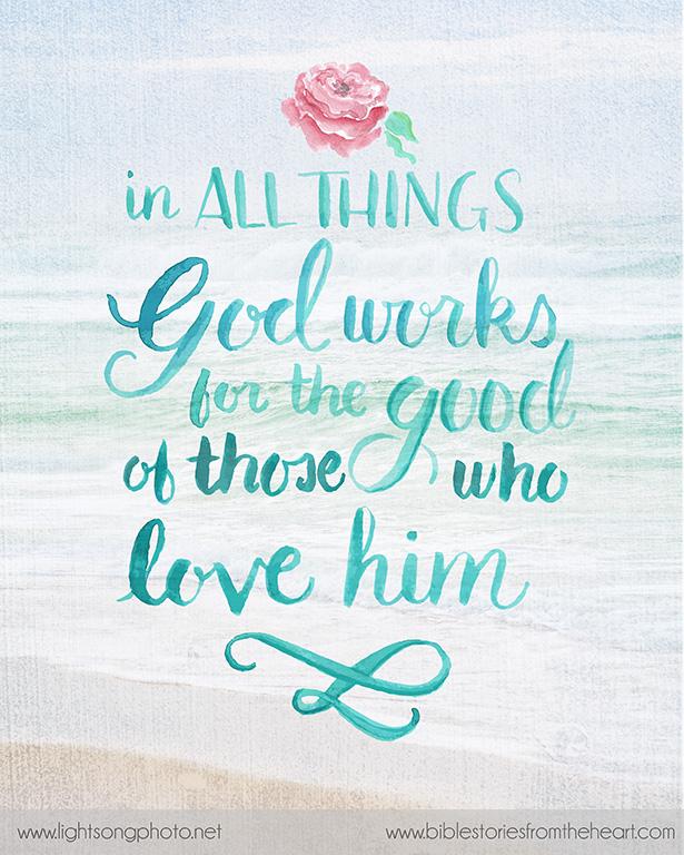 Romans 8 28 Christian Faith Art
