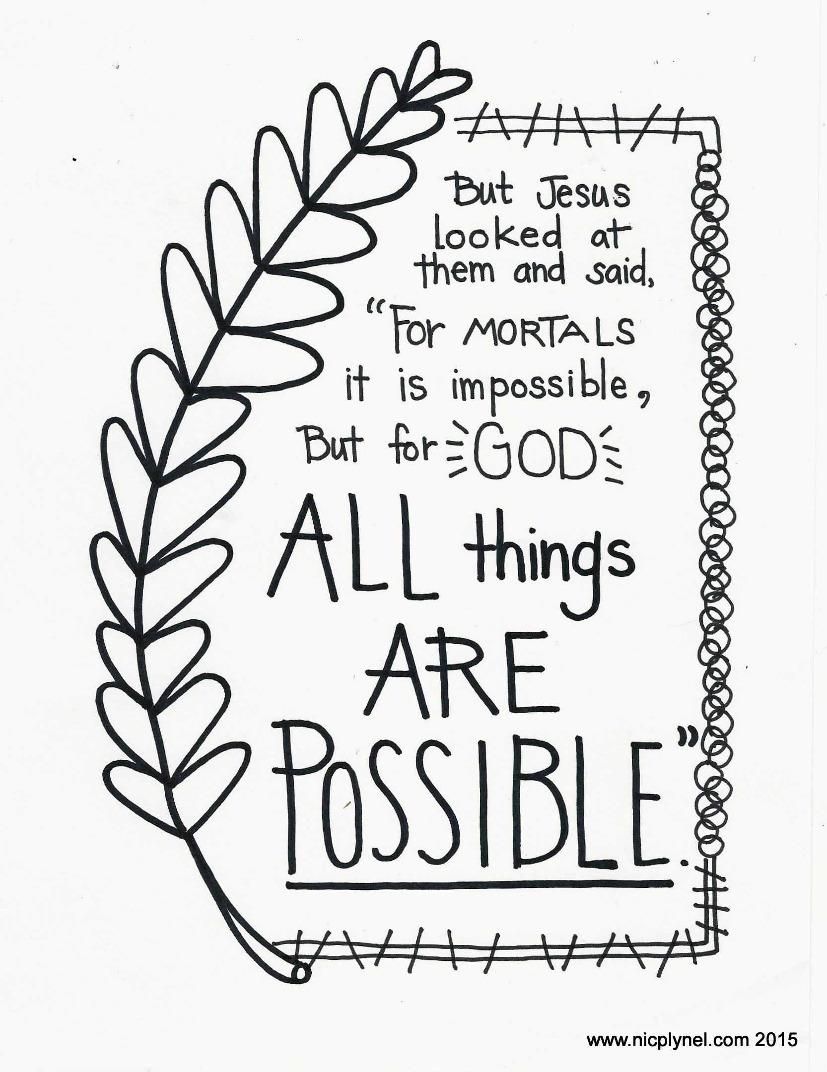 Striking image for free printable bible verse coloring pages