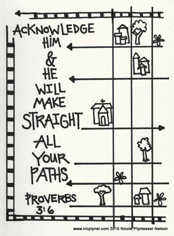 Proverbs 3: 5-6 – Christian Faith Art Journaling and Bible Study